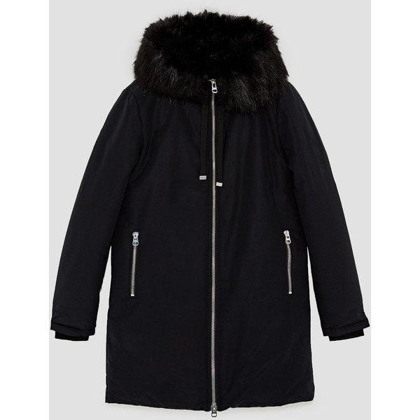 REGEN - PARKA MIT KAPUZE-Alles anzeigen-MÄNTEL-DAMEN | ZARA... (286.040 COP) ❤ liked on Polyvore featuring outerwear, coats and parka coats