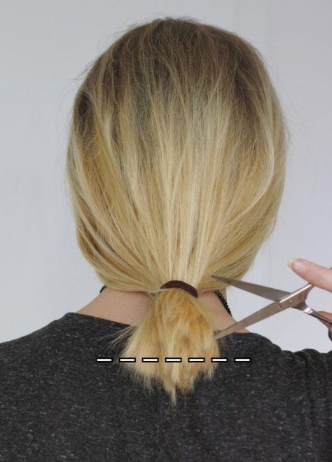 Long Bob selber schneiden - Do it yourself Anleitung für den Clavicle Cut 10