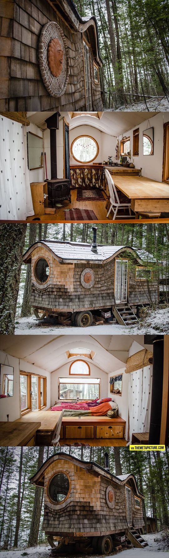 My Dream tiny house! Now if only I could get this on wheels.....