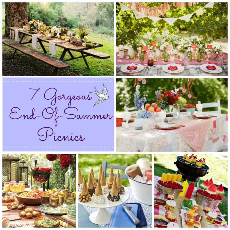 From easy to elegant, these 17 End-of-Summer picnics are simply stunning!