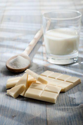 Weiße Ganache (Füllung für Pralinen, Füllung und Überzugsmasse für Torten) (basic cupcake icing)
