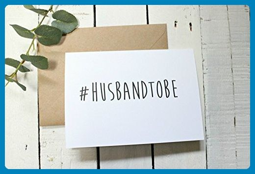 Wedding Day Card, Hashtag Wedding, Wedding Card Funny, Card for Husband To Be, Card for Fiance, Fiance Gift - Groom fashion accessories (*Amazon Partner-Link)