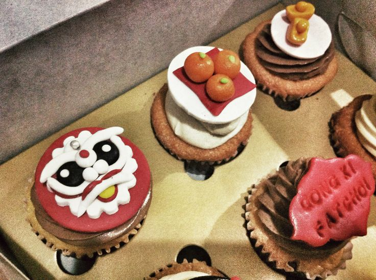 Chinese new year cupcake topper