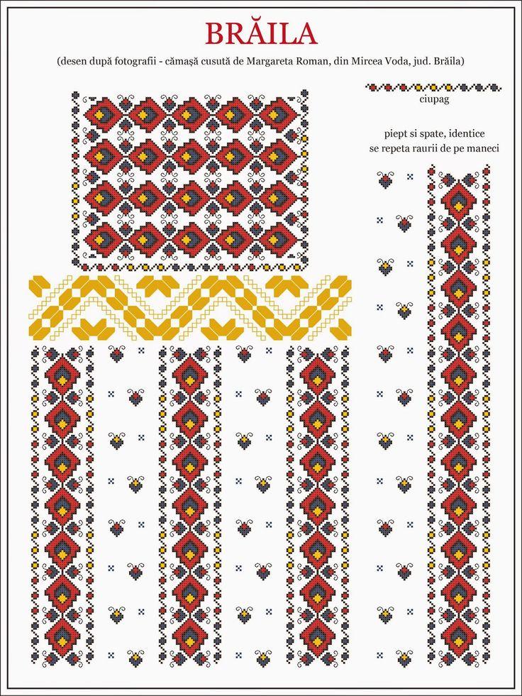 Semne Cusute: traditional Romanian blouse from WALLACHIA, Braila county