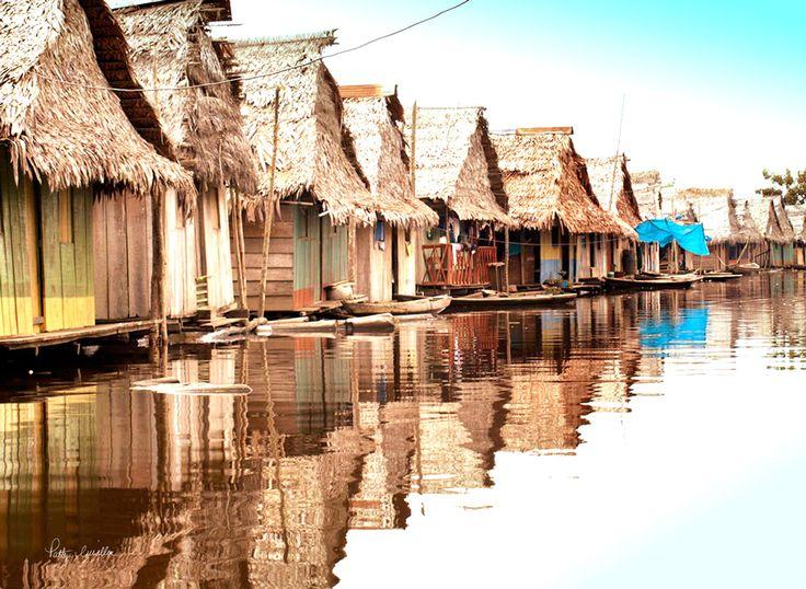 Floating Village on the Peruvian Amazon