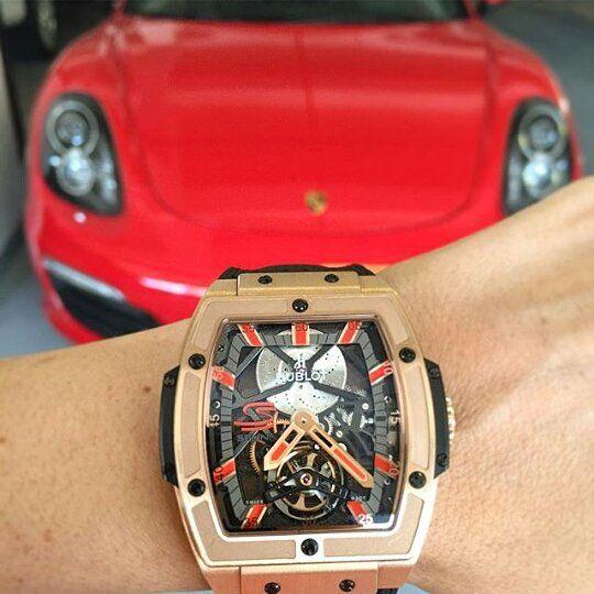 Hublot Ayrton Senna Tourbillion  #hublot #ayrtonsenna #tourbillon #porsche #luxurylife #luxury #lifestyles #thebillionairesclub  #luxurywatch #watchporn #luxurycars by vince_lucky