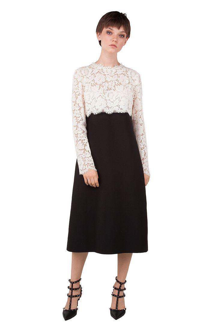 Купить: Платье с кружевным верхом Valentino, Дневные