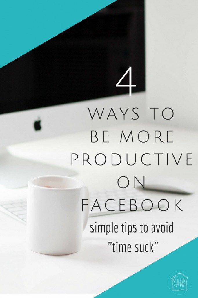 Simple strategies to help you be more productive on Facebook. Great time-saving tips for bloggers!