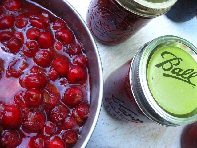sour cherry jamJam Recipes, Liquid Pectin, Boiled Water, Cherries Recipe, Preserves Food, Water Bath, Sour Cherries, Cherries Jam, Food Preserves