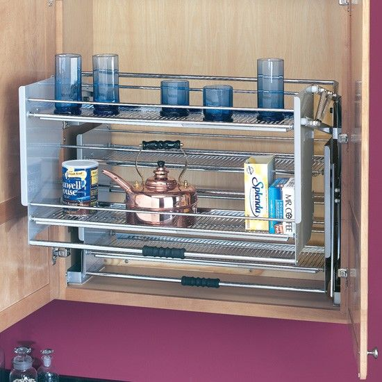 "Pull Down Kitchen Cabinets: Pull-Down Shelf For 36"" Wall Cabinets"