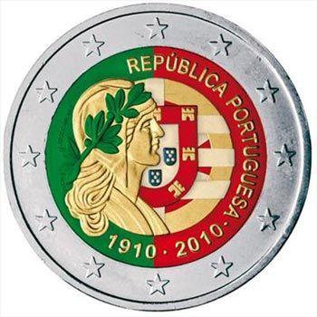 moneda conmemorativa 2 euros Portugal 2010. Color, Tienda Numismatica y Filatelia Lopez, compra venta de monedas oro y plata, sellos españa, accesorios Leuchtturm