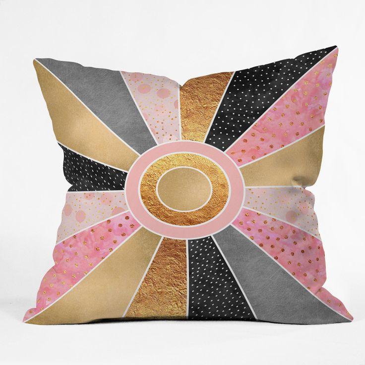 Happy Sunshine Outdoor Throw Pillow Elisabeth Fredriksson