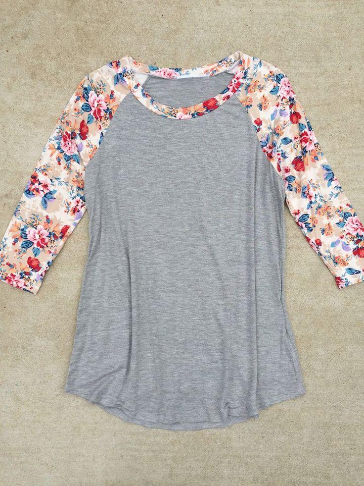Floral Windrift Raglan Shirt