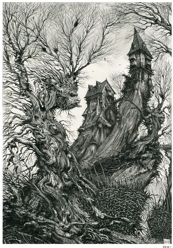 One of my favorite artists is Ian Miller, who I include as an influence on my practical work research.