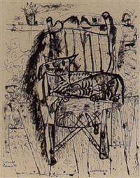Dier op stoel by Reinier Arnold Reemer