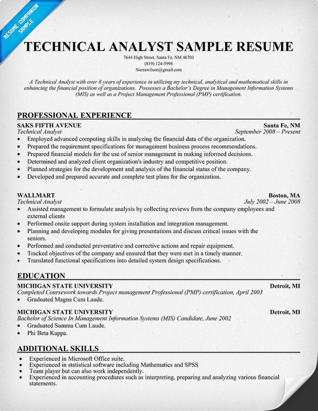 Technical analyst resume sample - Information Security ...