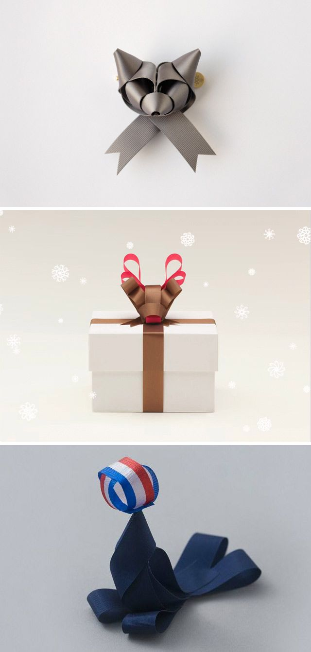 Ribbonesia - Japanese Ribbon folding. - Origami meets gift wrapping! Follow the link there are more images available!