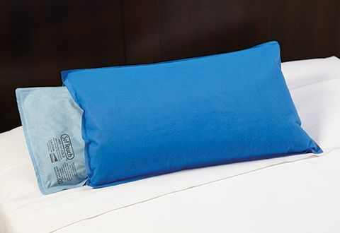 "Sleep Supporting Cooling Pillow: If you're constantly flipping your pillow in search of the ""cool side,"" you'll love the Sleep Supporting Cooling Pillow. Made with 7 lbs. of cooling liqui-gel (supported by 2 lbs. of soft poly-fill base), this amazing pillow allows body heat to flow away from your head, so the surface stays cool."