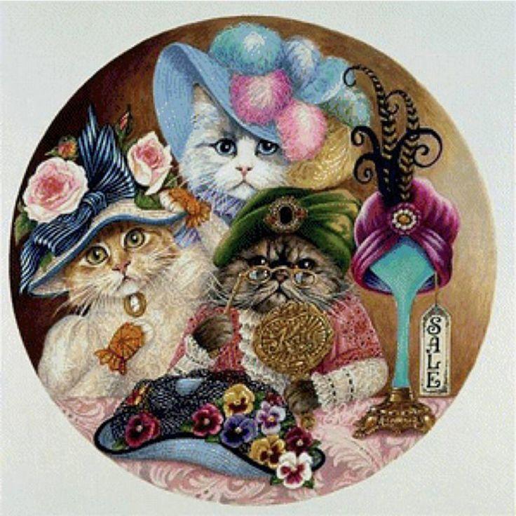 декупажные картинки с кошками баба огромными сосками