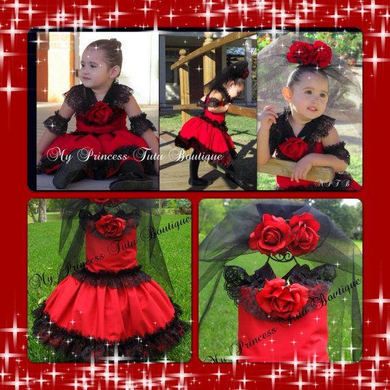 Spanish Flower Halloween Costume Girls by MyPrincessTutuBoutique