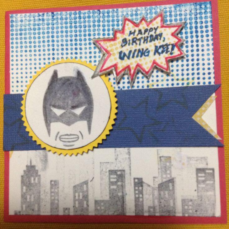 Calling all heroes Stampin up 2015 birthday card batman dark knight