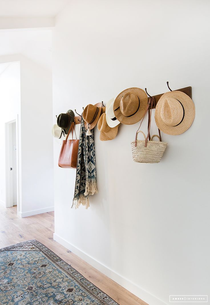 Best 25 entry hall ideas on pinterest for Hat hanging ideas