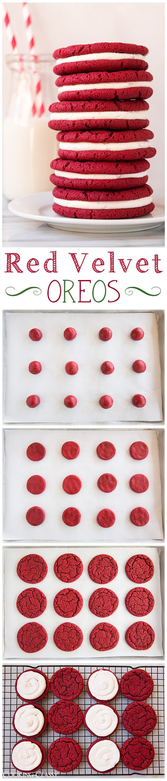 Red Velvet Oreo Cookies - these cookies are unbelievably delicious! If you like red velvet you will LOVE these!