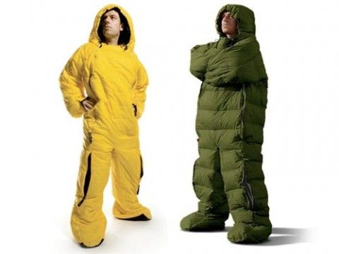 It's a sleeping bag! It's a man! It's the best sleeping bag ever! #want