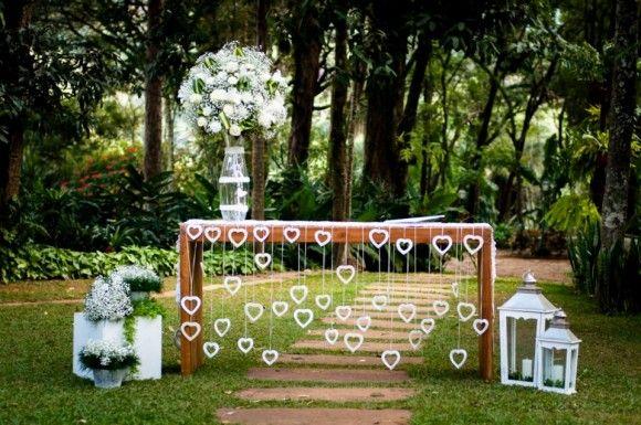 A decoração do casamento de Silvia e Leonardo