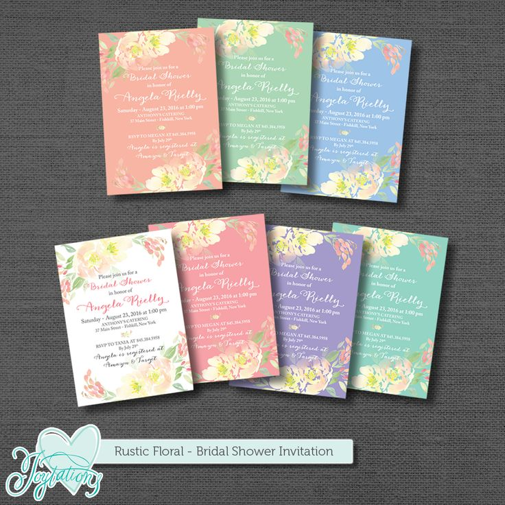 simple diy bridal shower invitations%0A Rustic Floral  Bridal Shower Invitation by Joytations on Etsy    colors to