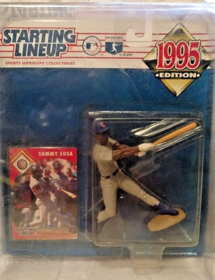 1995 Starting Line-up  Baseball Player Sammy Sosa Figurine