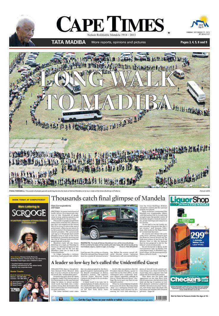 News making headlines: Long walk to Madiba