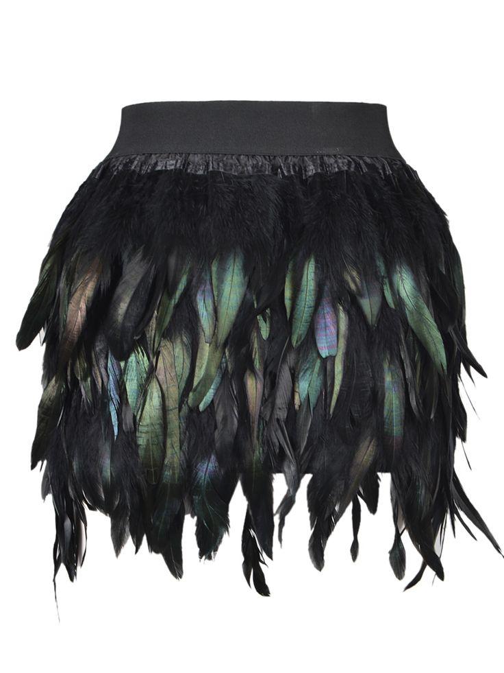 Feather Mini Skirt