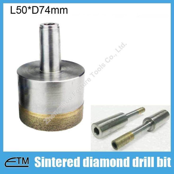 Спекания сверло стали сверла для мрамора керамический гранит коронка длина 50 мм диаметр 74 мм glasstool E021470