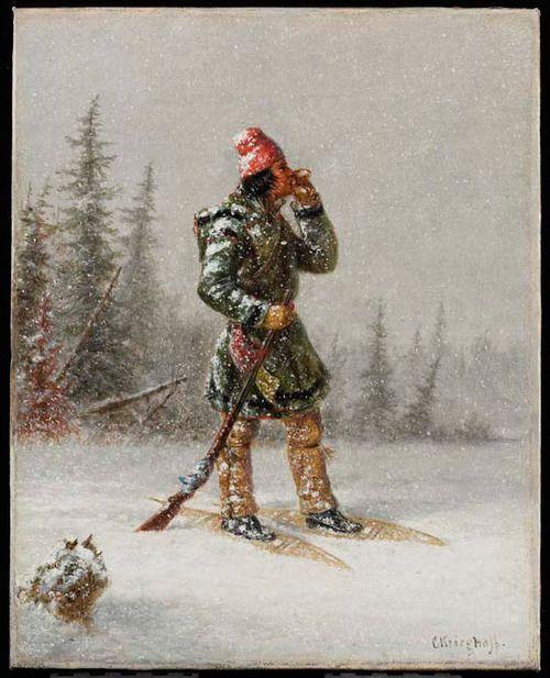 Cornelius Krieghoff: 'Calling the Moose', around 1860 (The Thomson Collection © Art Gallery of Ontario).