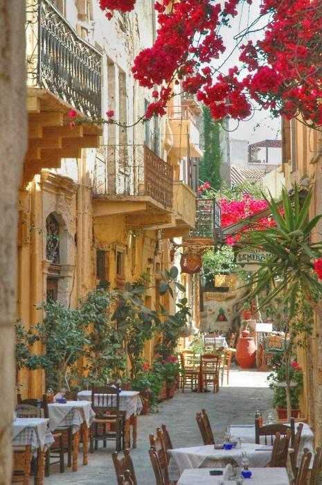Balconies, Isle of Crete, Greece.