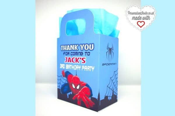 Personalised Spiderman Party Bags