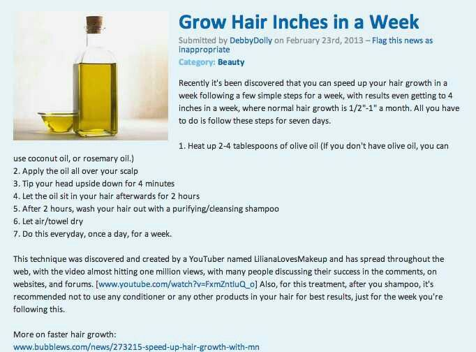 Not necessarily beauty but it helps grow hair longer