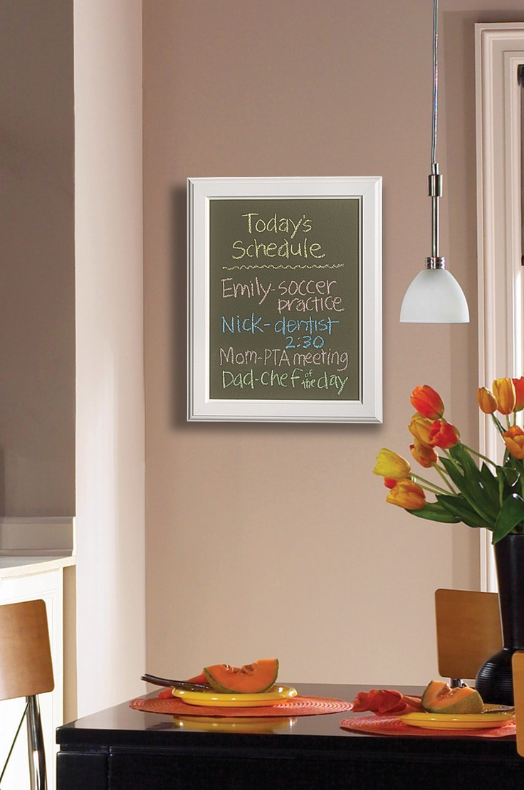 stay on schedule with color chalkboard paint!