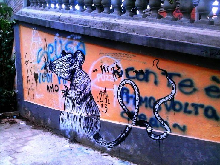Cosenza, Italy - Il topo di Piazza Cappello - Murales anonimo