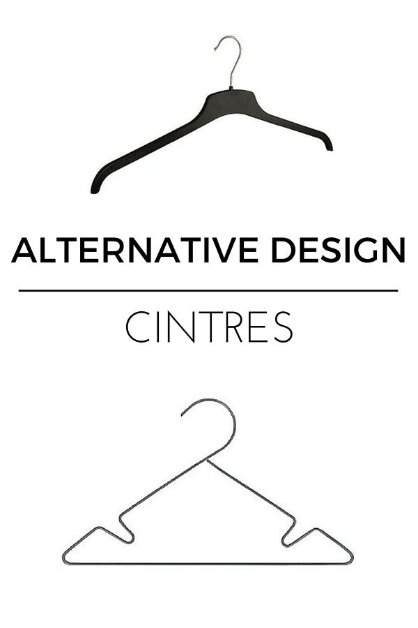 Cintres design  http://www.homelisty.com/alternatives-design-objets-quotidien/