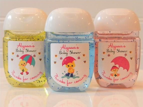 Adorable Personalized Ducks Baby Shower Or Birthday Hand Sanitizer