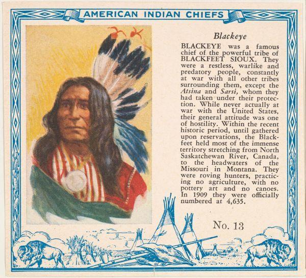 Blackeye, Blackfeet Sioux Chief | American Indian Chiefs ...