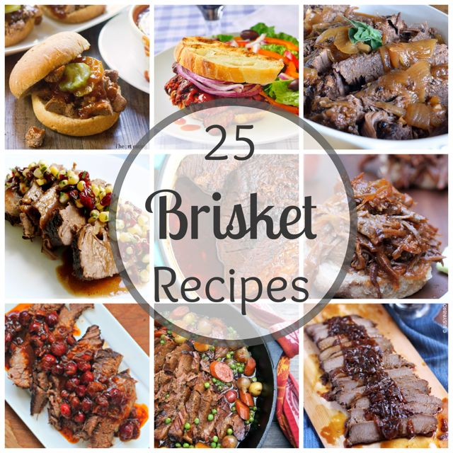 25 Brisket Recipes- this had many recipes I just wanted to have a place I could get back to them. Some I just gotta try.