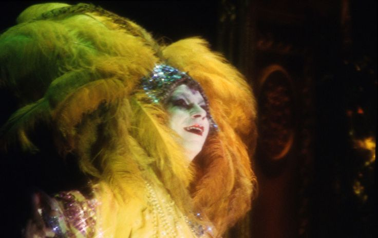 "Close-up of Lindsay Kemp, playing the caracter of Salomé, in Oscar Wilde drama ""SALOME' """