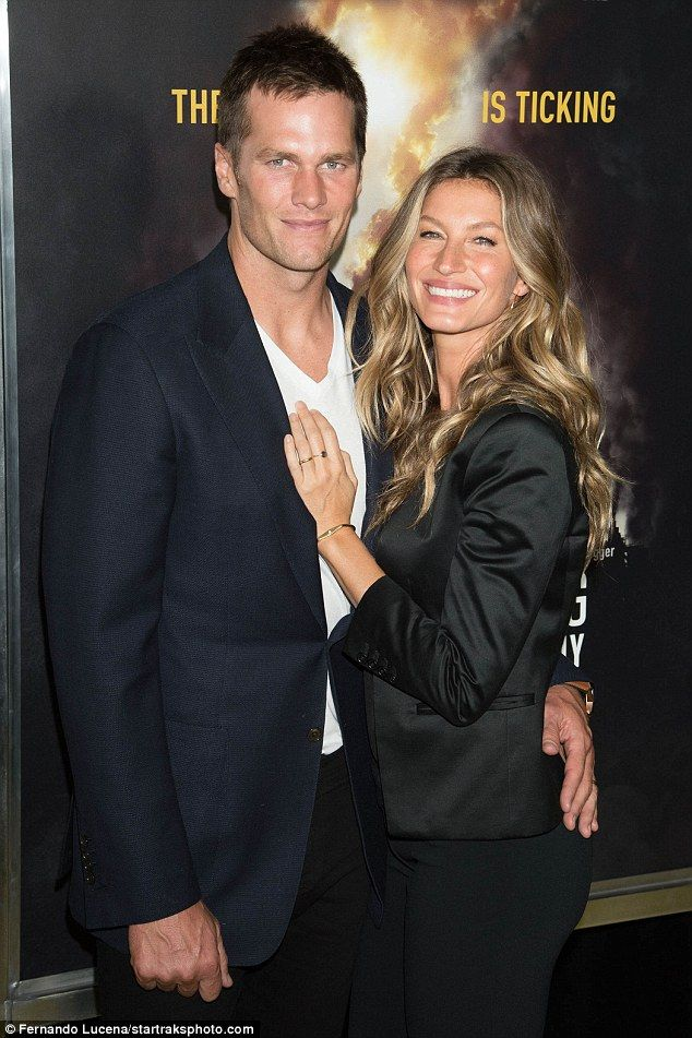 All smiles: Tom Brady and Gisele Bundchen  made a very affectionate display while attending National Geographic's Years Of Living Dangerously season premiere in NYC on Wednesday