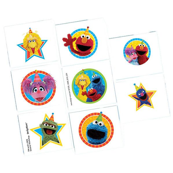 Check out Sesame Street Tattoos | Sesame Street Birthday tableware & décor for your party from Birthday in a Box from Birthday In A Box