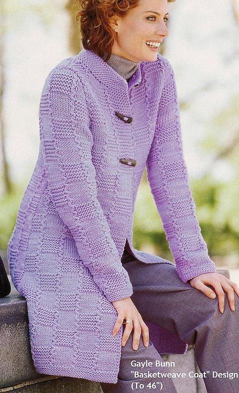 Женское пальто связанное спицами купить хлопковый джемпер женский в спб