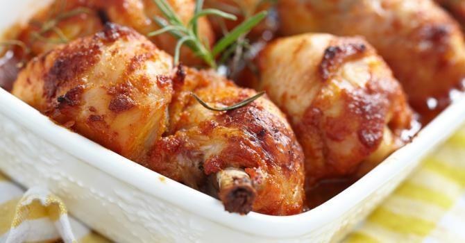 Recette de Pilons de poulet au four au miel et à la moutarde pour diabétiques. Facile et rapide à réaliser, goûteuse et diététique.