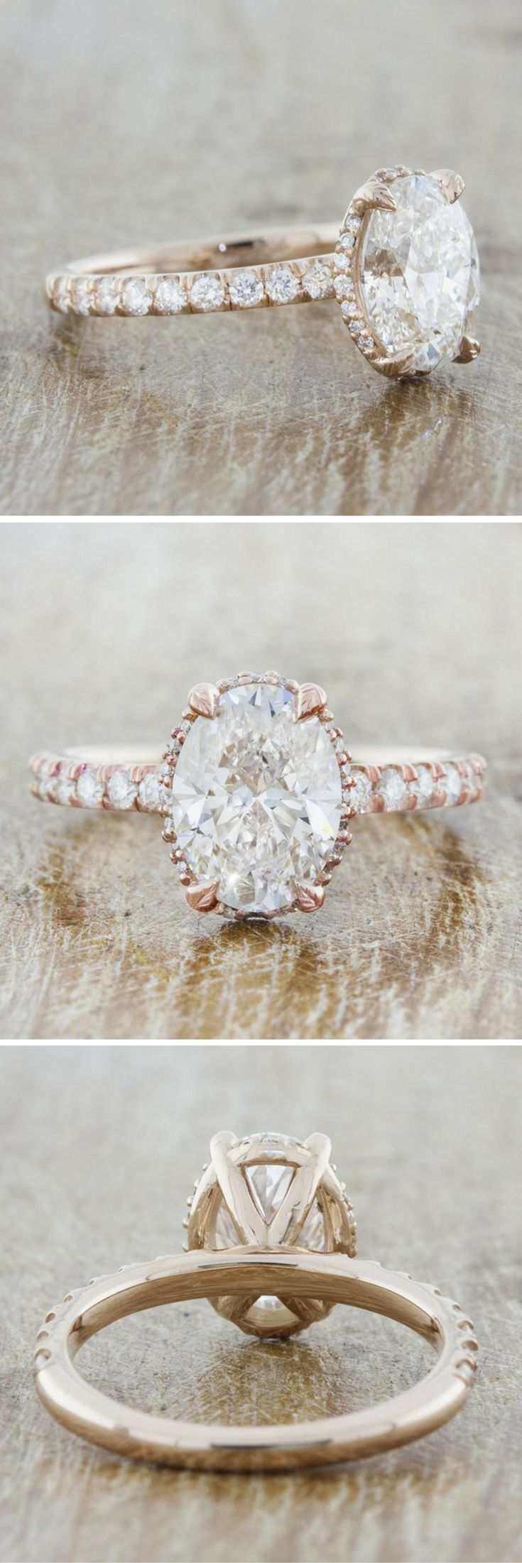Samanthina is a rose gold engagement ring that represents the amazing balance of nature. The four-leaf prongs that guard the center stone is symbolic of the four seasons that keep our world in perfect harmony.  Customize this ring to your liking today! #weddingring